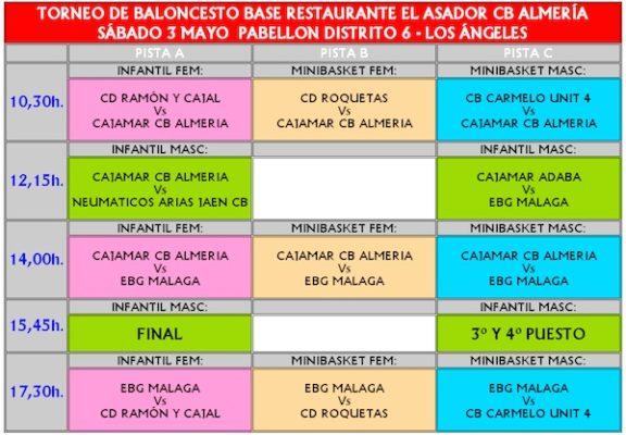 Horarios del Torneo del CB Almería
