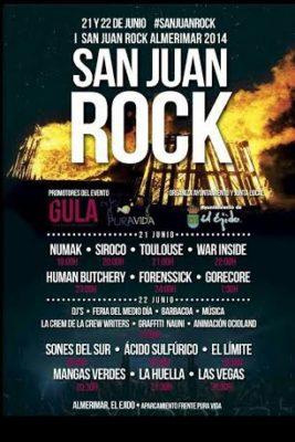 Cartel de San Juan Rock Almerimar 2014