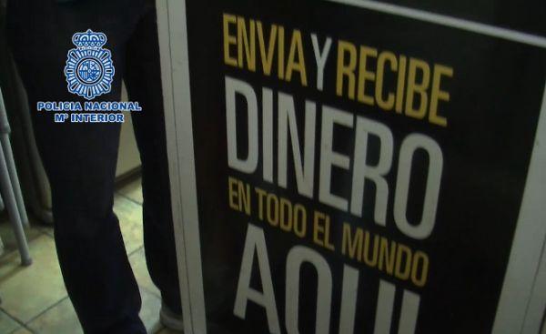 Policia Nacional locutorio dinero