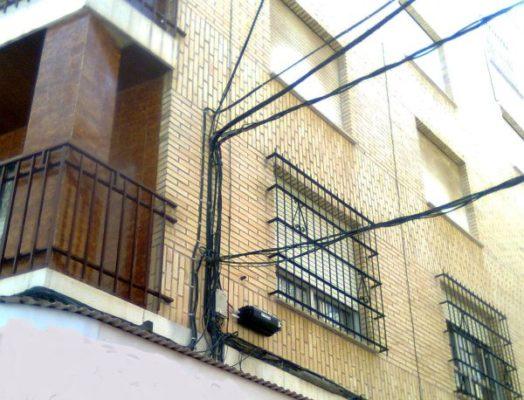 cableado en fachadas