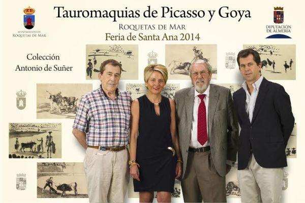 Impulsores de la muestra de las Tauromaquias de Picasso y Goya