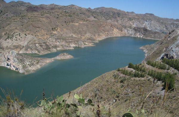 Vista parcial del pantano de Cuevas del Almanzora