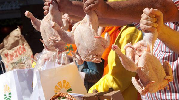 Reparto de pollos UPA