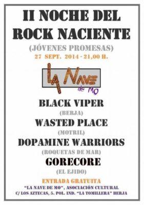 Cartel II Noche del Rock Naciente