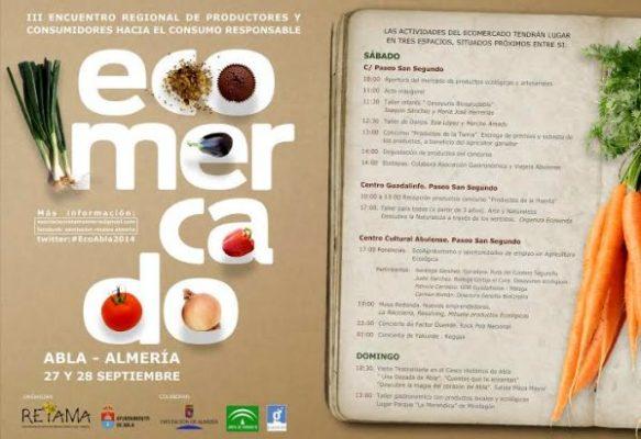 Programa de actividades del III Ecomercado de Abla