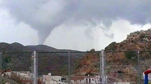 Tornado en Lubrín