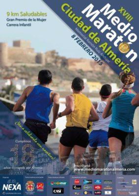 Cartel Media Maratón Almería