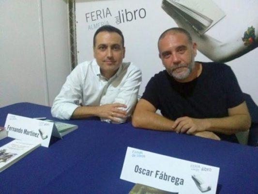 Los escritores Fernando Martinez y Óscar Fábregas
