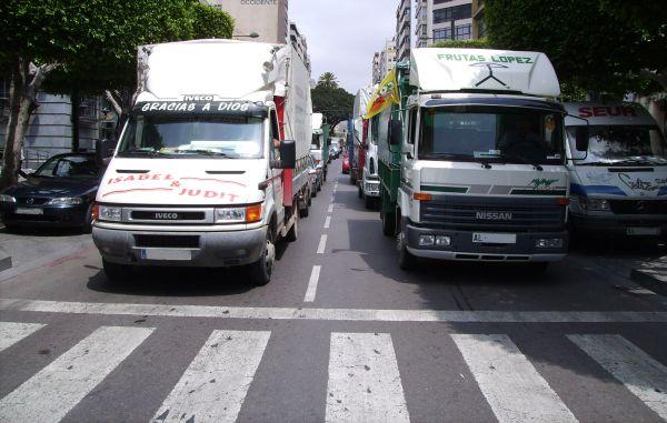 Movilización de transporte de camiones mayo 2007