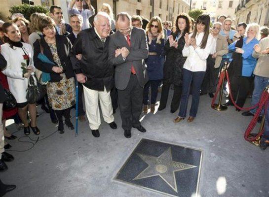Eduardo Fajardo con Rodríguez Comendador