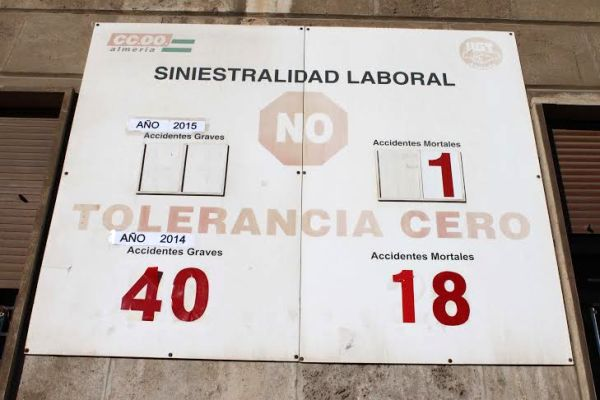 Primera muerte en el tajo que inaugura el contador d esiniestralidad laboral de 2015
