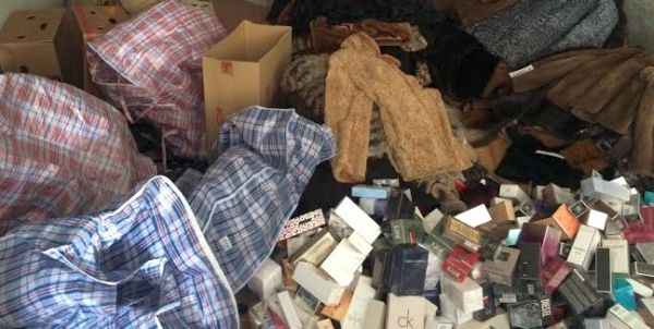 Perfumes y ropa robados