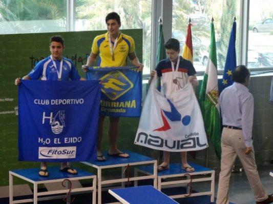 José Ángel Espinosa, subcampeón 100 espalda, plata y bronce en relevos
