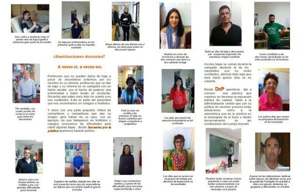 Profesores de Almería dan la cara y cuentan su caso