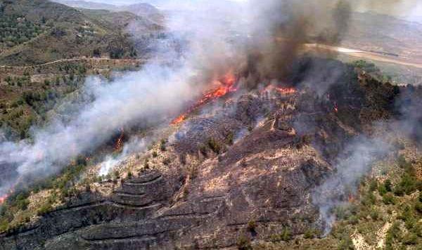 Incendio en Huércal Overa