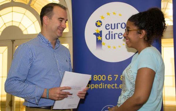 Voluntaria europea