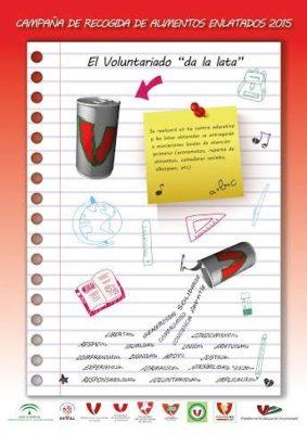 Cartel de la campaña humanitaria de los voluntarios andaluces