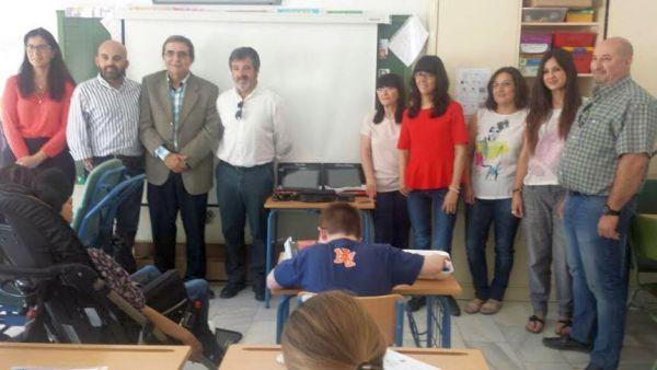 Responsables de la FAAM en el CEIP Antonio Relaño de Olula del Río