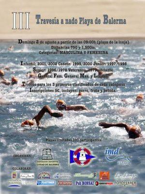 Cartel de la Travesía a nado en Balerma