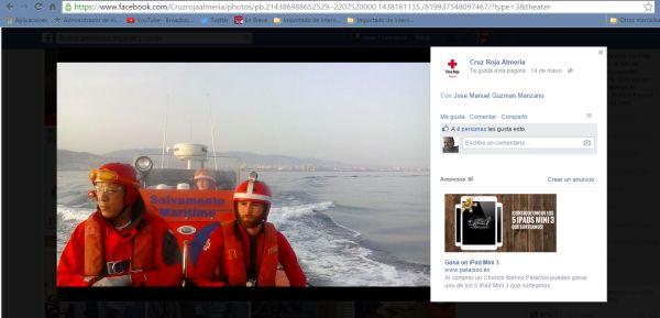 captura de pantalla cruz roja