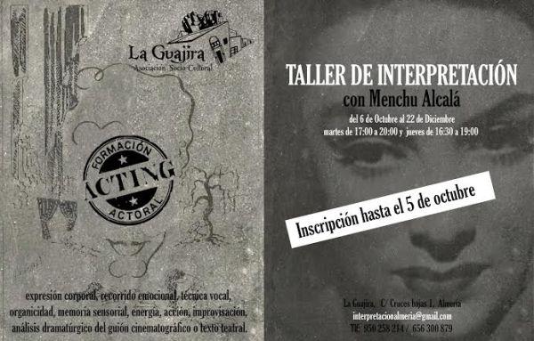 Cartel  del taller de Interpretación en La Guajira