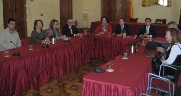 Reunión del consejero de Justicia en la sede de la Sublegación del Gobierno de la Junta