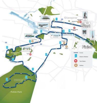mapa del recorrido de la prueba