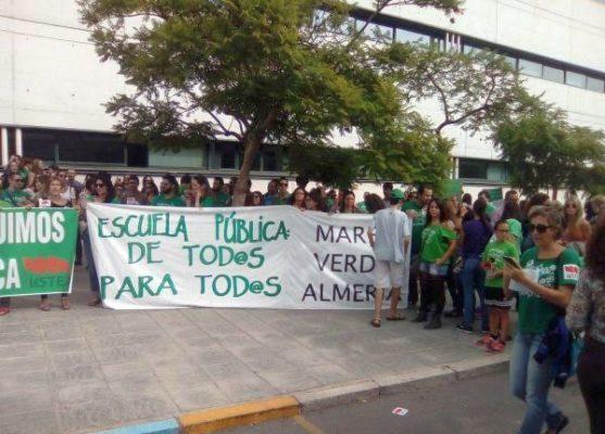 Concentración contra la Lomce, este miércoles en la Delegación de Educación en Almería