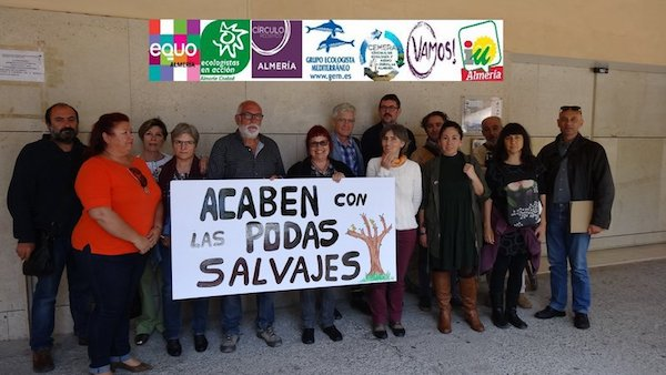 Representantes de partidos políticos y colectivos ecologistas, unidos por una Almería amable y saludable