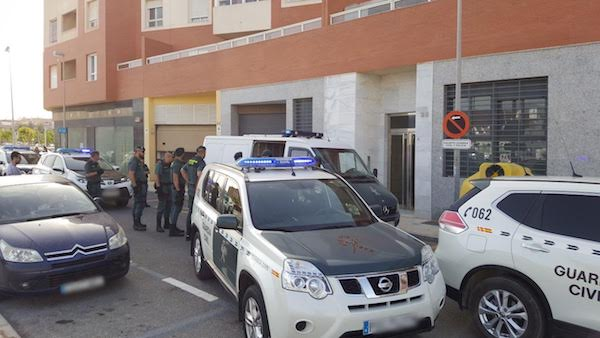 Guardia Civil en Roquetas