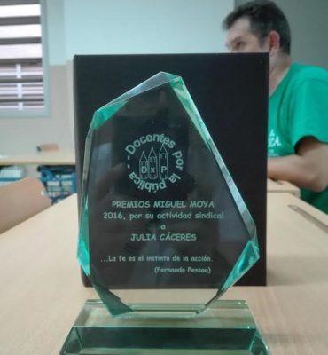 Docentes por la Pública convoca su asamblea anual y entrega los III Premios Miguel Moya