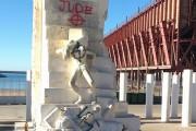 Pintadas nazis en el monumento homenaje a las víctimas de Mauthausen