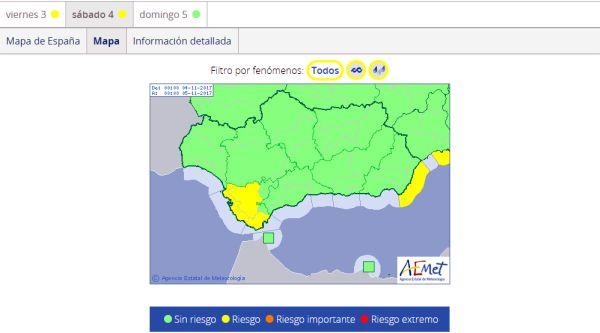 mapa de previsiones