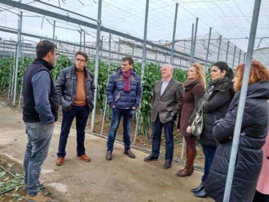 180110 FOTO PSOE Adra temporal en Las Albuferas
