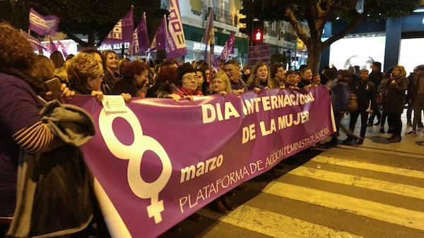 Movimientos estudiantiles convocan movilizaciones feministas el 8 de marzo en Almería