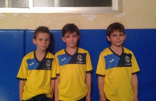 Simón, Alberto y Alejandro. La Salle Gimnasia