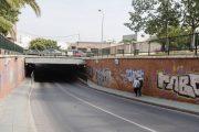 El paso subterráneo de La Goleta, cerrado tres días por obras