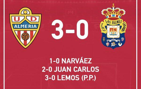 El Almería vuelve a la victoria ante Las Palmas