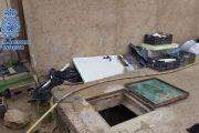 Encuentran un zulo en la carretera del Alquián a Viator con 115 plantas de marihuana