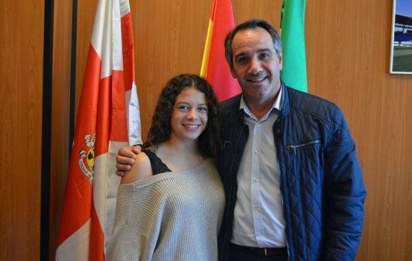 Ángeles López Vara, campeona de España juvenil de gimnasia artística