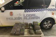 Detenidos dos jóvenes con 17 kilos de hachís tras una persecución en coche por las calles de Almería
