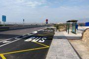 El barrio de San Nicolás, en La Mojonera, recupera la parada del autobús del Consorcio de Transporte
