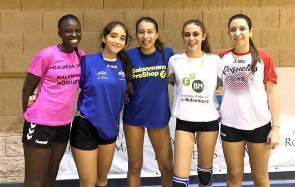 Siete jugadoras del Balonmano Roquetas, entre las convocadas con la selección de Andalucía