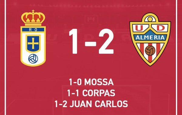 El Almería gana en el Carlos Tartiere y olvida la Copa