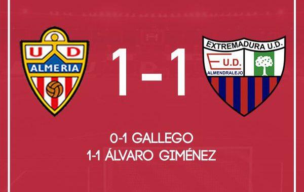 El Almería empata contra el Extremadura en casa