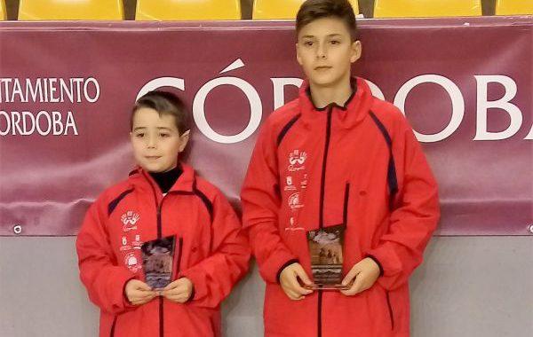 Alonso Rincón y Marcos Oliva, campeón y subcampeón de Andalucía de tenis de mesa
