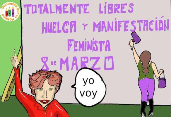 'Docentes por la Pública' se suma a la huelga feminista del 8 de marzo, Día Internacional de las Mujeres
