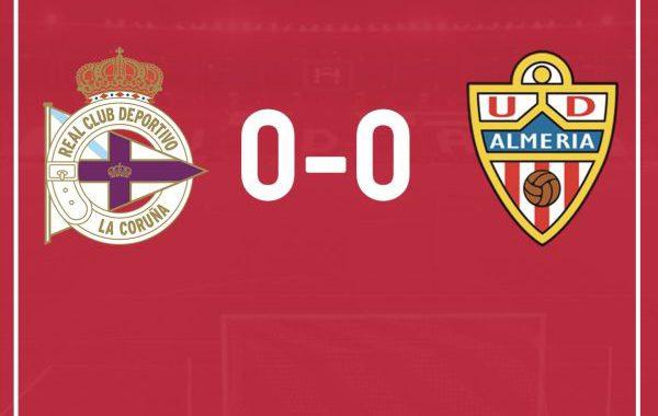 El Almería empata en Riazor (0-0)