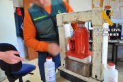Siete detenidos por cocinar y distribuir cocaína en Los Vélez