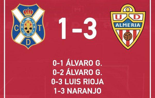El Almería gana en Tenerife y mantiene sus opciones de playoffs